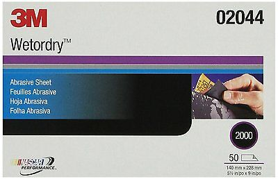 """3M 02044 Imperial Wetordry 5-1/2"""" x 9"""" 2000A Grit Sheet"""
