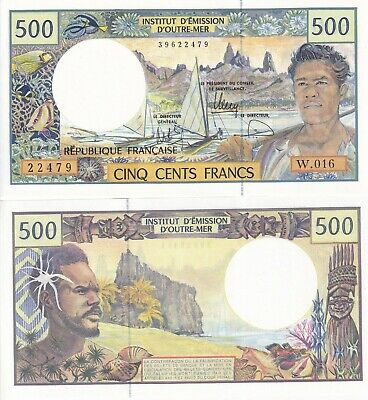 Billet banque FRENCH PACIFIC TAHITI POLYNESIE 500 Frs NEUF NW UNC