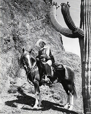 GENE AUTRY on Champion  AUTOGRAPHED  REPRINT   AUT-13