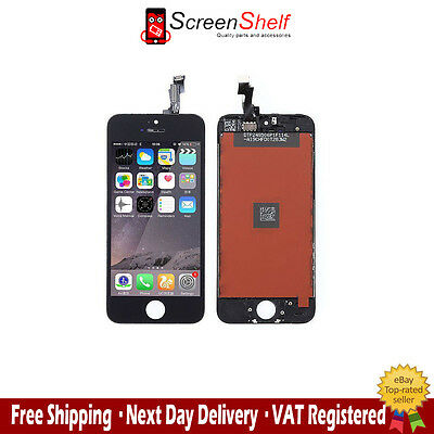 For IPHONE 5S LCD DISPLAY SCREEN WITH TOUCH DIGITIZER GLASS ASSEMBLY BLACK