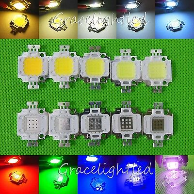 10W Cool Warm White Red Green Royal Blue UV IR 395nm-940nm 10000-30000K LED Chip