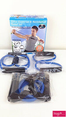Pack of 3pce Excercise and Resistance Band Set Body Workout LS0045