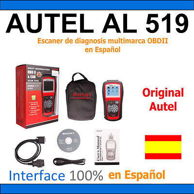 Autel AL519 OBD2 OBDII CAN Escaner de diagnosis multimarca OBDII, ORIGINAL AUTEL
