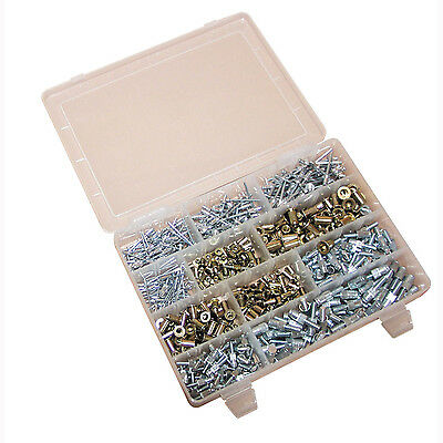Pop Rivet Set Pack Kit 550 Pieces Riveting Nut Rivnut Studs Panel Rivets  SWE212
