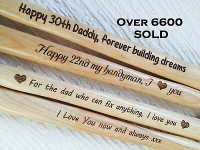 Personalised Gift Unusual Father Day Dad Daddy Husband Present Engraved Hammer