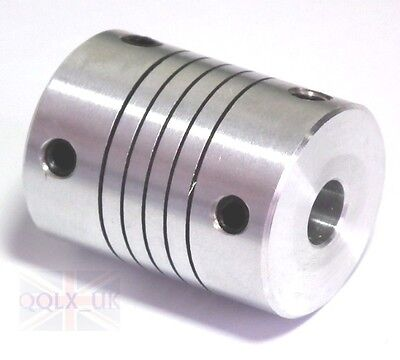 5/6/6.35/8mm Flexible Shaft Coupling CNC Stepper Motor Coupler Top Tight D20L25