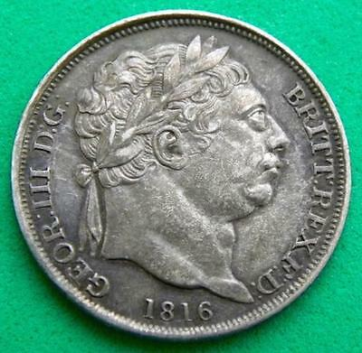 1816 - George 111 - Silver Sixpence - EF - SN8764