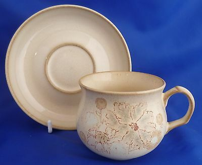 A Denby 'sandalwood' Tea Cup And Saucer