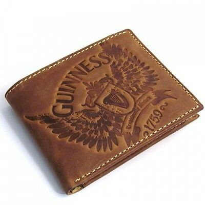 Guinness Wings Leather Wallet Brown
