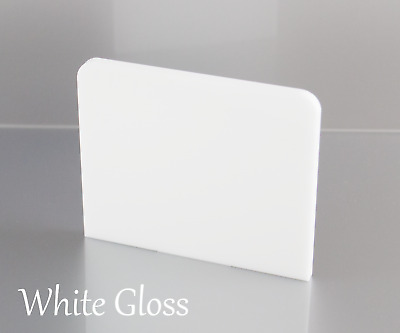 White Gloss Acrylic Plastic Sheets Perspex A5, A4, A3