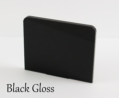 Black Gloss Acrylic Plastic Sheets Perspex In A5, A4, A3