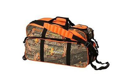 Hammer 3 Ball Roller Tote Hammerflage Bowling Bag With Shoe Pouch