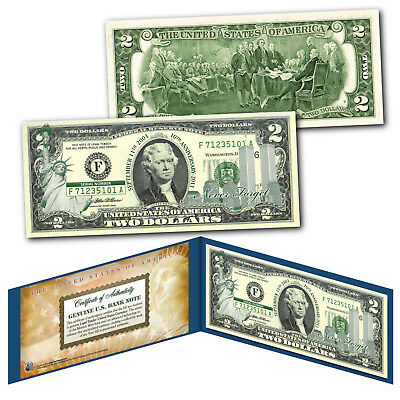 WORLD TRADE CENTER WTC 9/11 Statue of Liberty GRN $2 US Bill - SPECIAL LOW PRICE