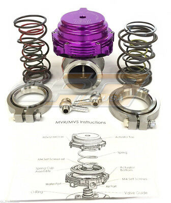 Tial MVR 44mm Wastegate With V-Band Flanges All Springs Pressure Included Purple