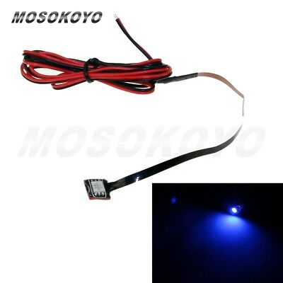 White Super LED License Plate Rear Light Motorbike Motorcycle Mini waterproof 1X