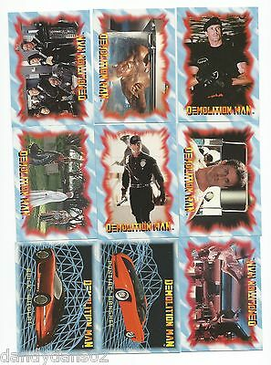 Demolition Man 1993 Skybox Lot Of 169 Cards With Near Set Sylvester Stallone