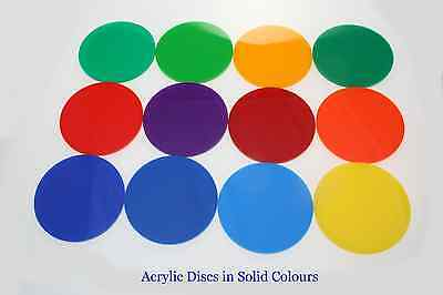Acrylic Circles Discs In Perspex Yellow, Green Opaque Colours