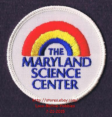 """LMH PATCH Badge MARYLAND SCIENCE CENTER Baltimore MD MSC Old RAINBOW Logo 2-3/4"""""""