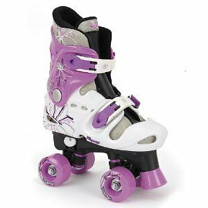 Osprey Girls Quad Roller Skates Size 3-5 Purple/White