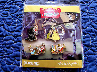Disney * SNOW WHITE * RETIRED * Dwarfs - Hag * New in Pack 4 Pin Booster Set