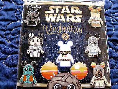 Disney * VINYLMATION STAR WARS * Series #2 Booster 7 pin set with Chaser MIP