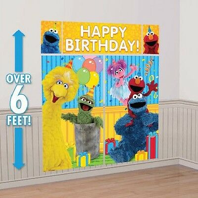 Elmo Sesame Street Birthday Party Scene Setter Wall Decor Kit W Photo Props