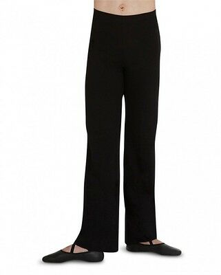 Black Capezio men's dance pants with elastic waist  - XS    5939