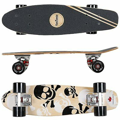 FunTomia® Mini-Board  Ahorn Holz ABEC-11 Retro Skateboard Cruiser Kinder 2060