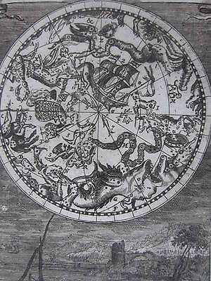 MALLET: Engraving Celestial Map Constellations Stars IV - 1685