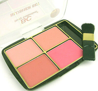 Body Collection Powder Blusher Blush Quad Dusty Pink 4 Shades Special Offer New