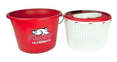 Stimulate 2 in 1 Extra Large 15L Burley Bucket/Live Bait Bucket-Removable Inner