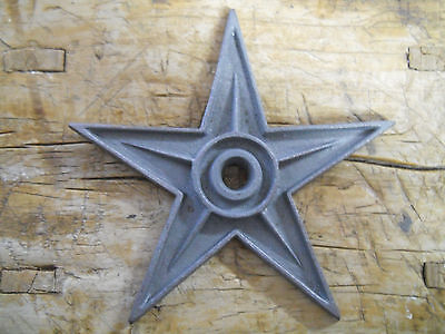"""5 Cast Iron Star Architectural Stress Washer Texas Lone Star Rustic Ranch 9"""""""