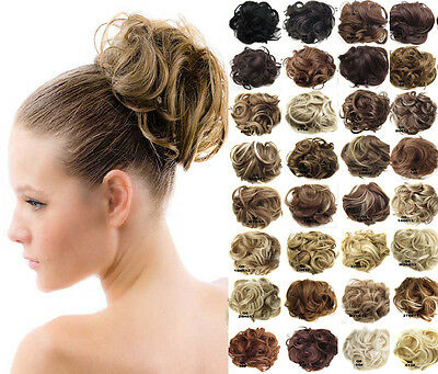 Hair Bun Scrunchies Hair Piece Extension Curly Heaps Color Choices Formal Updo
