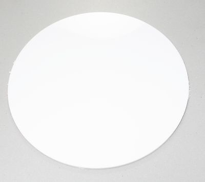 WHITE GLOSS ACRYLIC CIRCLE DISC 3mm & 5mm WITH POLISHED EDGES