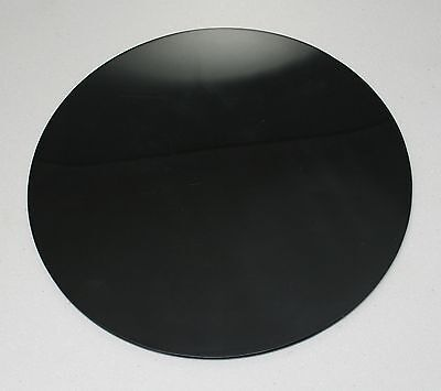 BLACK CIRCLES DISCS ACRYLIC SHEETS, BLACK GLOSS, 3mm & 5mm, WITH POLISHED EDGES