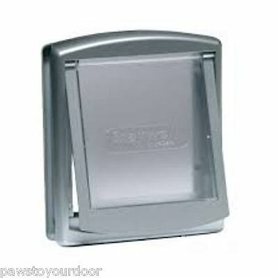 Staywell Petsafe 2 way locking small dog pet door cat flap silver catflap 737