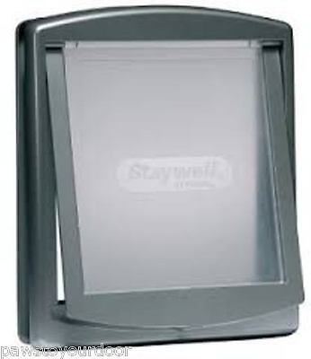 Staywell Petsafe 2 way locking large dog silver grey pet door 777 EF cat flap