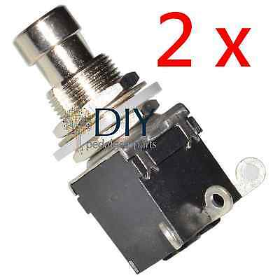 2 x DPDT 3 lugs footswitch interruttore a pressione true bypass pedal clone DIY