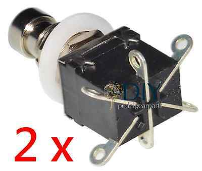2 x DPDT 6 lugs footswitch interruttore a pressione true bypass pedal clone DIY