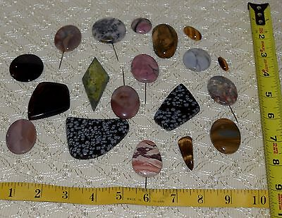 Large Vintage Lot Polished Stones Bolo Ties Belts Jewelry Crafters Collectors