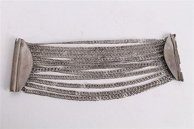 Antique Authentic Hand Made Stunning Silver Woman Chain Bracelet.