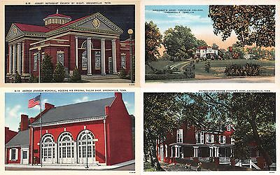 Lot of 5 Early/Vintage Greenville, Tennessee Postcards 1 Used #51841