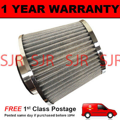 Silver Universal High Power Upgrade Air Filter With Adaptors 60 65 70 76