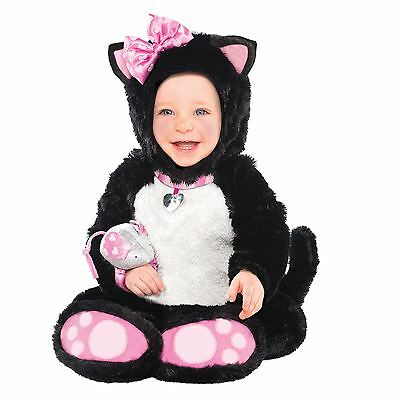 Baby Toddler Girls Itty Bitty Kitty Costume Cat Kitten 6-12 12-18 Months + Toy