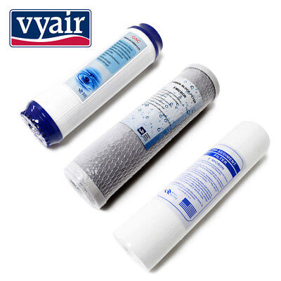 "Spare Filters Vyair RO-3 STAGE 10""  - 3 Pre Filters for RO Water Filters"