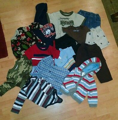 Baby Name Brand Boy Lot 12M 15 Pieces Carters Tommy Gymboree And More