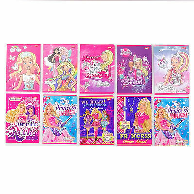 Zeszyt A5 w 3 linie Barbie. Handwriting Exercise Book - Barbie 3-lined. Colours