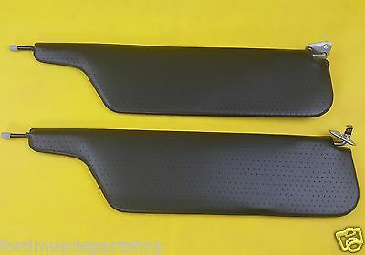 Ford Falcon Xt Xw Xy Gt Gtho Black Perforated Sunvisors With Bracket Concourse
