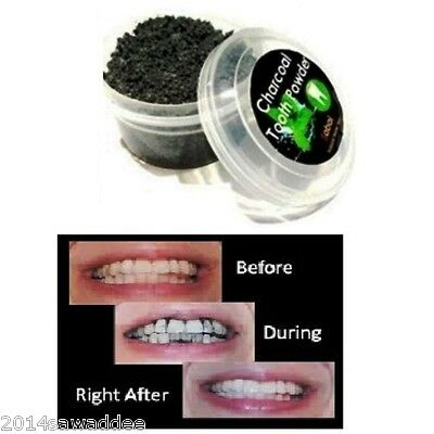 Activated Charcoal Tooth Powder Toothpaste Organic Free Fluoride Menthol 25 g