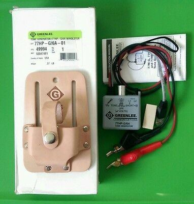 (NEW) GreenLee Tone Generator 77HP-G/6A-01 w/ Holster